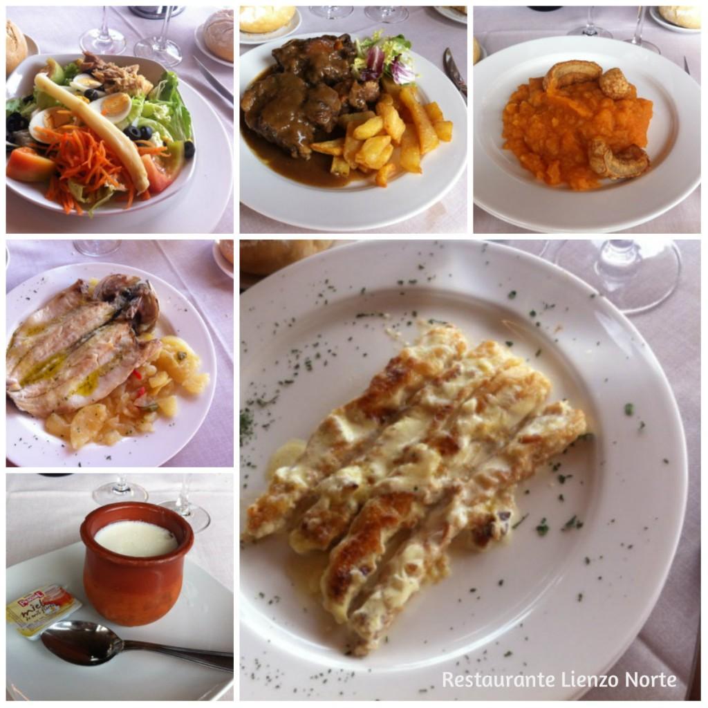 Menús del restaurante El Lienzo de Ávila