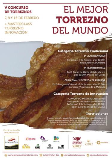 Cartel Concurso torrezno de Soria