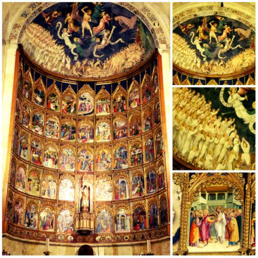 Detalle retablo Catedral vieja de Salamanca