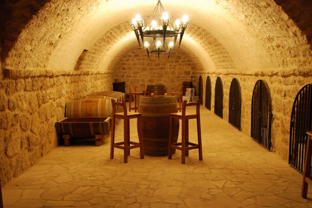 dormitorio de botellas de Bodegas Alfredo Santamaria