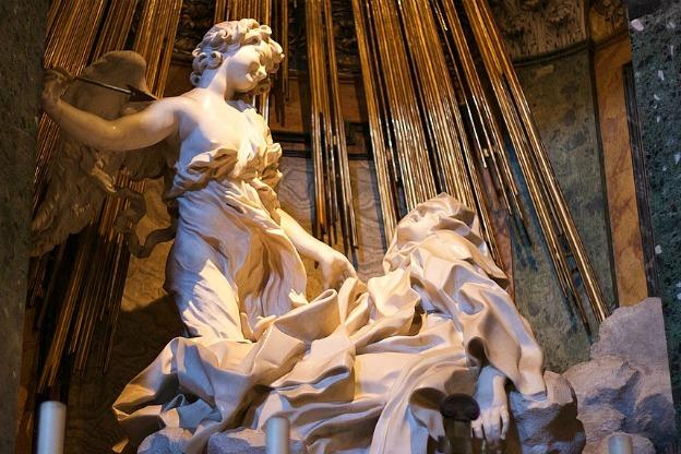 El éxtasis de Santa Teresa, obra cumbre del escultor italiano Bernini Foto: www.laalcazaba.org