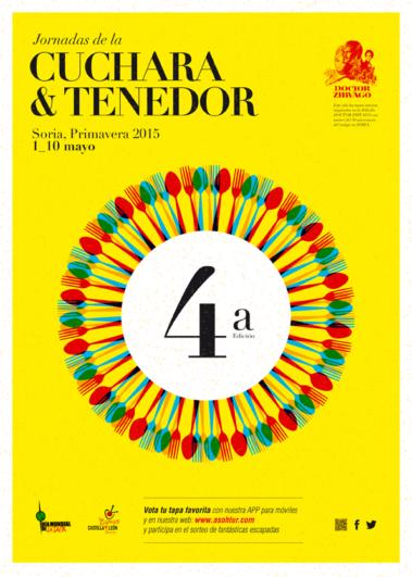 cartel Jornadas de la Cuchara y el Tenedor de Soria 2015