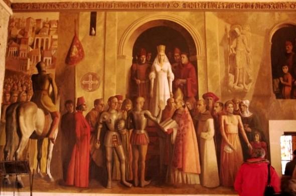 Coronación de Isabel la Católica en el Alcazar de Segovia