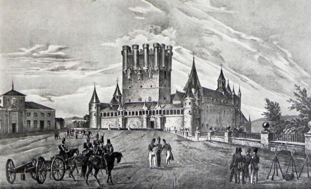 Grabado del Alcazar de Segovia