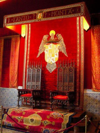 Sala del trono en el Alcazar de Segovia