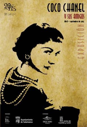 Cartel de Coco Chanel en la Casa Lis - Destino Castilla y León