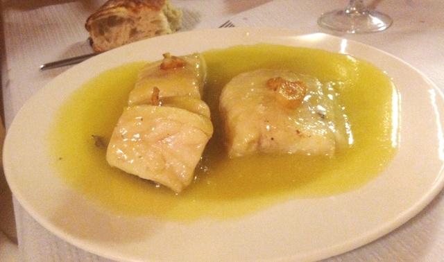 Principal en la Puerta Grande - Bacalao en salsa verde - Destino Castilla y León