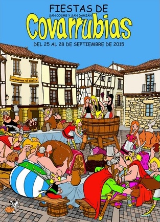 Cartel de las fiestas de Covarrubias 2015