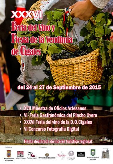 cartel Fiesta de la Vendimia de Cigales 2015