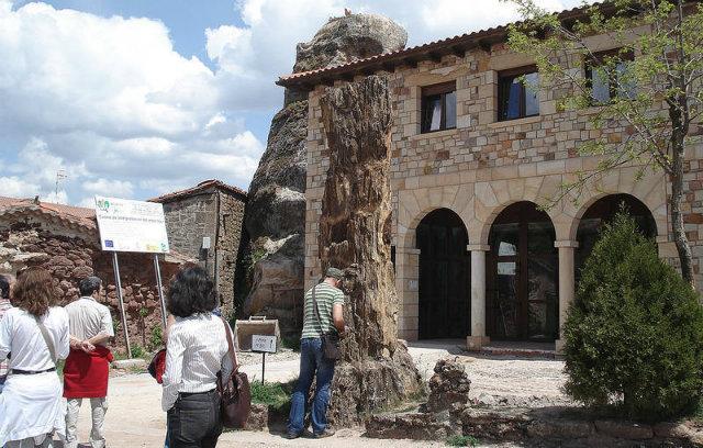 centro de visitantes el árbol fósil viajar con niños en Burgos