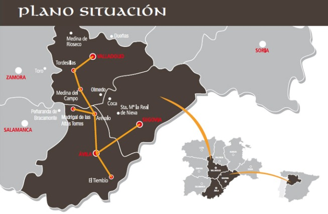 Ruta de Isabel - plano - Destino Castilla y León