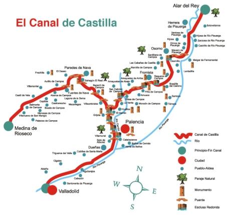 Canal de Castilla - Ruta - Destino Castilla y León