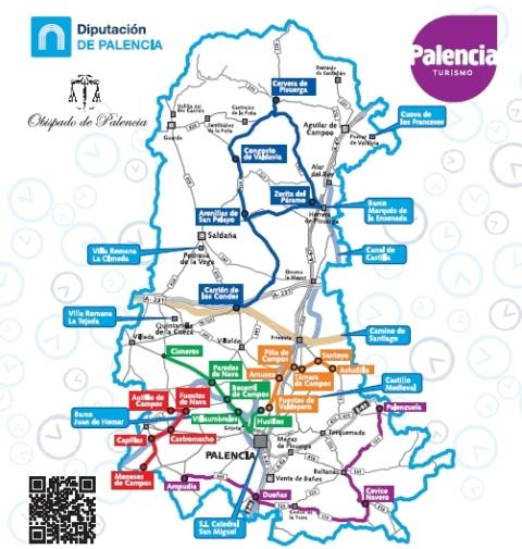 Ruta del Románico - Mapa - Destino Castilla y León