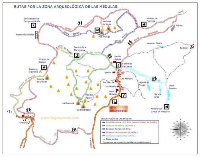 Mapa de Las Medulas - Destino Castilla y León