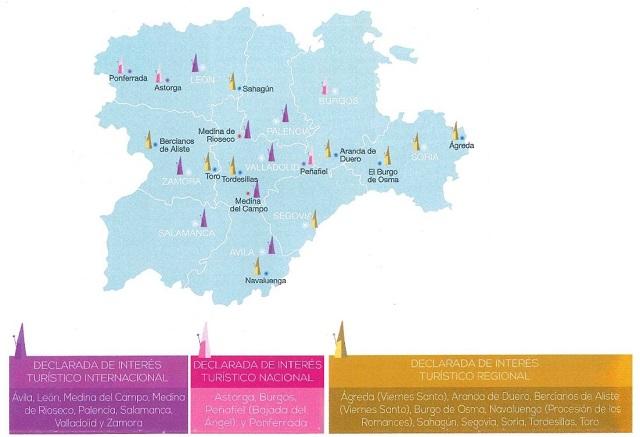Mapa de las Semanas Santas - Destino Castilla y León