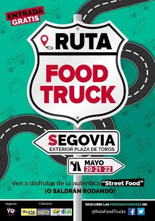 Cartel pequeño FoodTruck Segovia - Destino Castilla y León