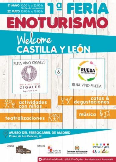 Cartel de la Feria del Enoturismo en Madrid