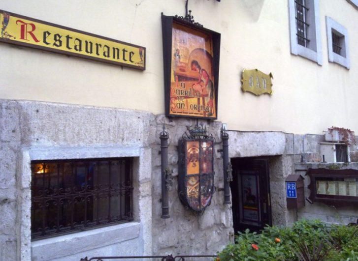 Fachada de la Parrilla de San Lorenzo - Destino Castilla y León