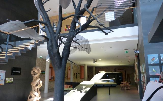 Interior de la Casa del Parque del Jardín Secreto de Oña - Destino Castilla y León