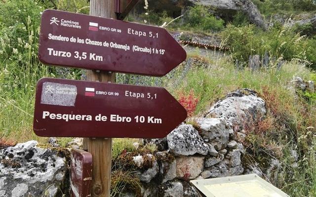 Rutas señalizadas en Orbaneja del Castillo - Destino Castilla y León