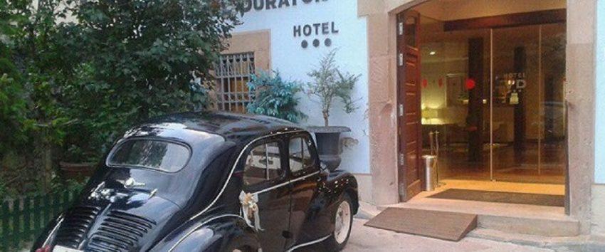 Entrada del Hotel Vado del Duratón