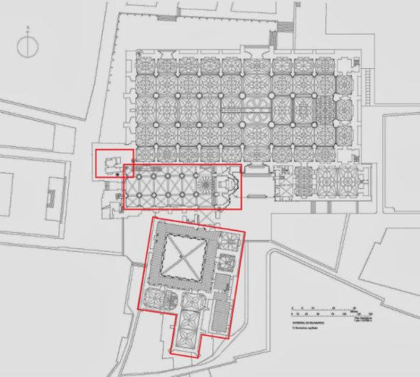 Planta de la Catedral vieja de Salamanca y el Claustro - Destino Castilla y León