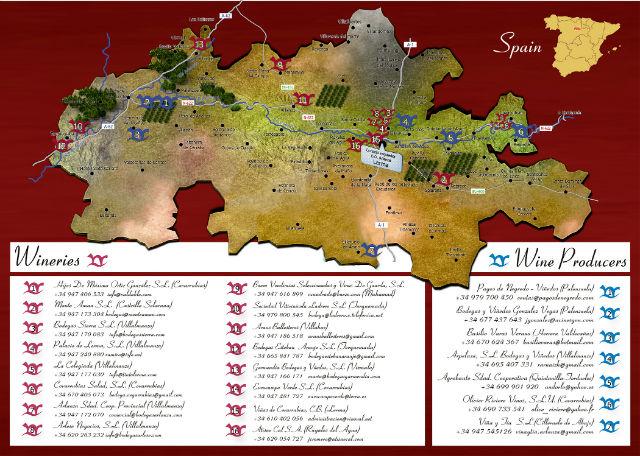 Mapa de la Denominación de Origen Arlanza