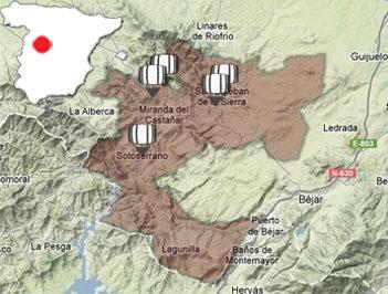 Mapa de la DOP. Sierra de Salamanca