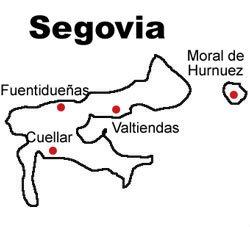 Mapa de la DOP. Valtiendas