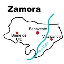 Mapa de la extensión de la Denominación Valles de Benavente