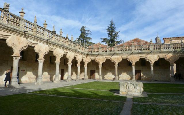 Patio de las Escuelas Menores de la Universidad de Salamanca - Destino Castilla y León