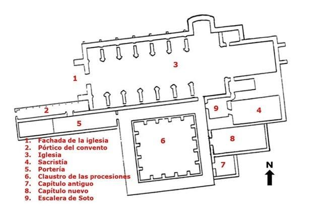 Planta del convento de San Esteban de Salamanca - Imagen de Viajeros con arte