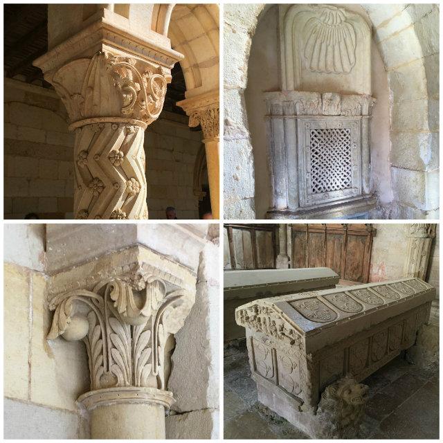 Ornamentación en Monasterio de San Andrés del Arroyo - Santibáñez de Ecla - Destino Castilla y León