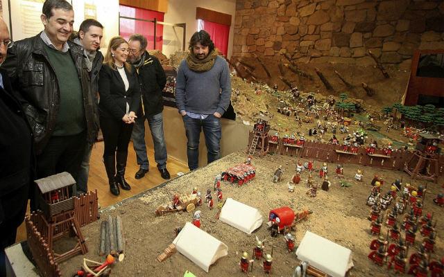 Maqueta con Playmobil de las Guerras de Numancia - Imagen de SoriaNoticas