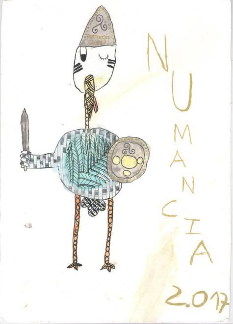 Mascota infantil Numancia 2017 realizada por Claudia González Mayo