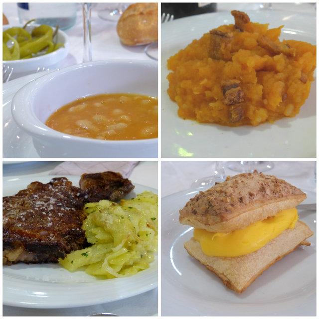 menú típico de Ávila en el Hotel-Restaurante 4 postes