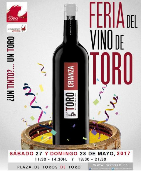 Cartel de la Feria del Vino de Toro 2017 - Destino Castilla y León