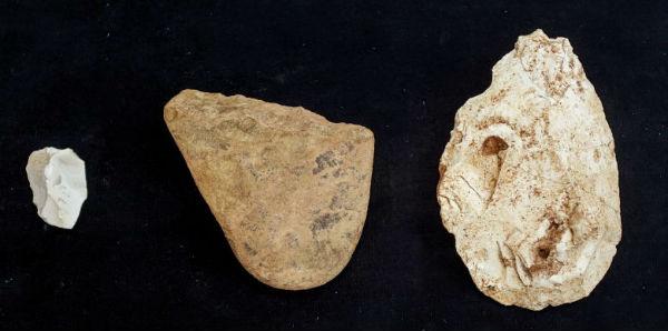Algunas de las herramientas halladas en Atapuerca en 2013 - Imagen de EFE
