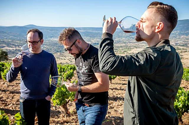 Maestros del vino catando los vinos de la DOP. Cebreros - Imagen de Agustín Trapero