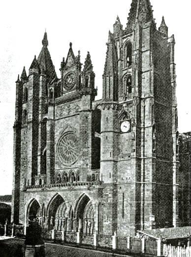 Catedral de León con su apariencia Barroca - Imagen de Saber.es