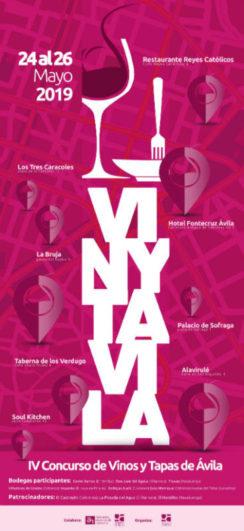 Cartel de la VI edición de VinyTÁvila 2019 - Pincha para agrandar