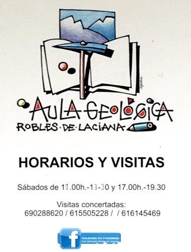 Horarios del Aula Geológica de Robles de Laciana - Destino Castilla y León