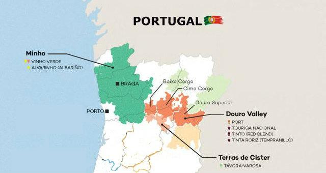 Denominaciones de origen portuguesas del río Duero