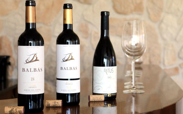 Botellas de vino de las bodegas Balbás - Destino Castilla y León