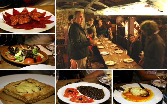 Cena con productos de la tierra en el Restaurante Bodega El Racimo de Oro - Destino Castilla y León