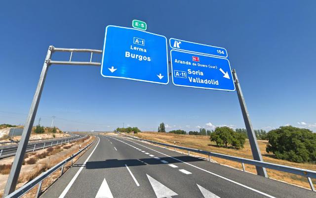 Llegando a Aranda de Duero por la autovía A1 - Destino Castilla y León