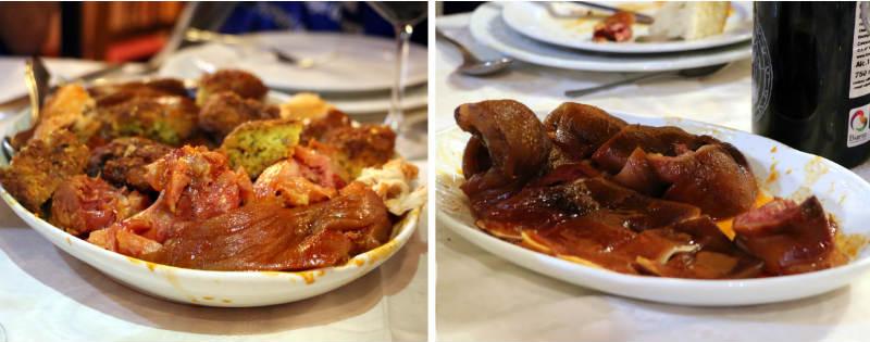 Platos de carne del cocido maragato de Juan Andrés - Destino Castilla y León