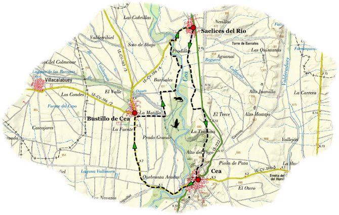 Senda «El Triángulo del Cea» en el sureste leonés Fuente de la imagen: http://www.terranostrum.es