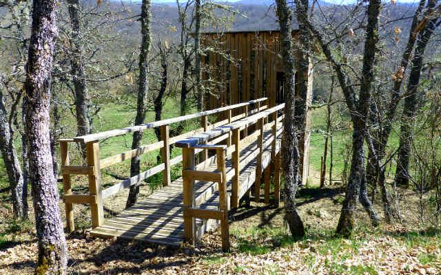 Instalaciones de observación de los bisontes - Destino Castilla y León