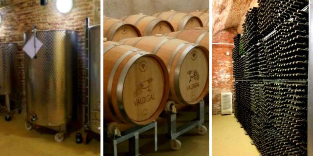 Elementos de elaboración del vino en Bodegas Valdigal - Destino Castilla y León